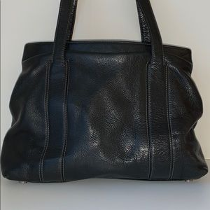 Carolina Herrera Black Leather Shoulder Handbag
